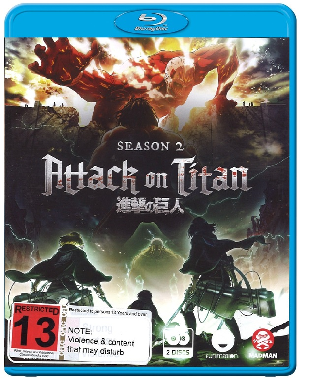 Attack On Titan - Complete Season 2 on Blu-ray
