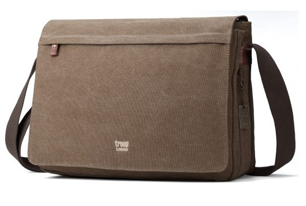 Troop London: Classic Flap-Front Messenger Large - Brown