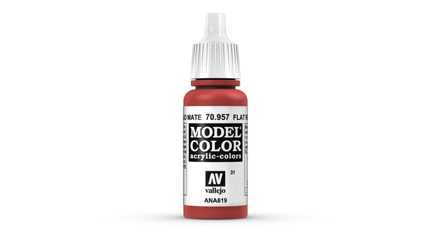 Vallejo Model Colour Flat Red 17ml