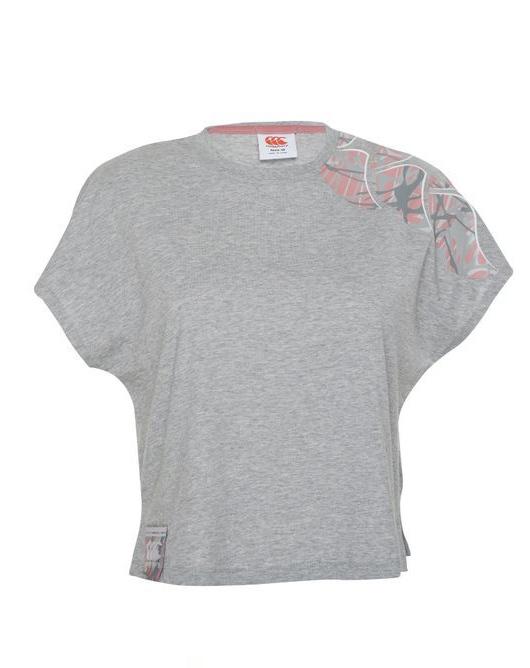 Canterbury: Womens Camo Logo Print Tee - Classic Marl (Size 8)