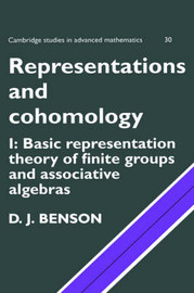 Cambridge Studies in Advanced Mathematics Representations and Cohomology: Series Number 30: Volume 1 by D.J. Benson