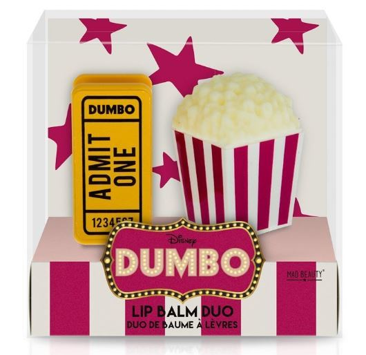 Mad Beauty: Disney Dumbo Popcorn & Ticket Lip Balm Duo