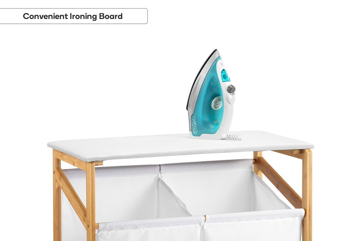 Ovela: Bamboo Laundry Cart image
