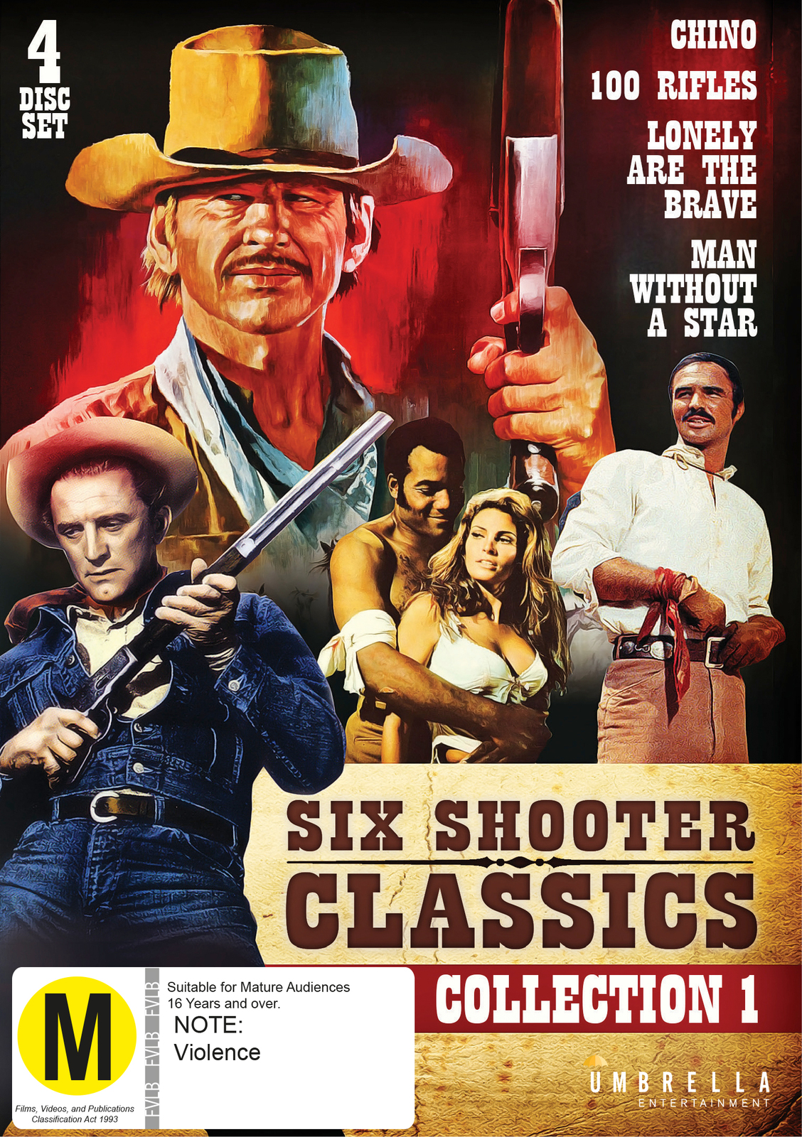 Six Shooter Classic Westerns Collection - Vol 1 on DVD image