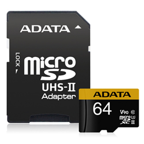 Adata: Premier ONE V90 UHS II Micro SDXC Card with Adapter - 64GB