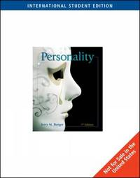 Personality by Jerry M Burger