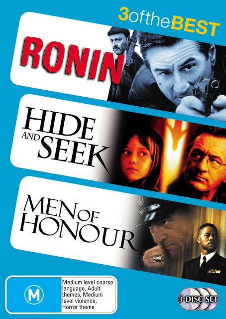 Ronin / Hide And Seek / Men Of Honour - 3 Of The Best (3 Disc Set) on DVD
