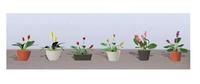 JTT: O Scale Assorted Flower Pots #3 - 6 Pack