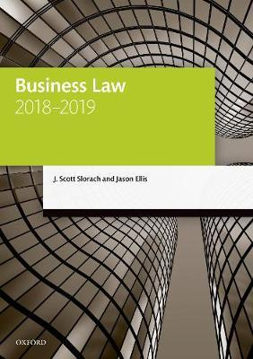 Business Law 2018-2019 by J. Scott Slorach image