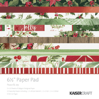 "Kaisercraft: 6.5"" Paper Pad - Peace & Joy"