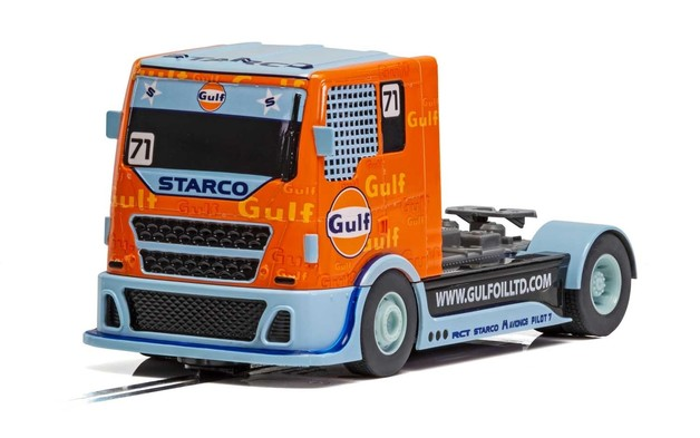 Scalextric: Gulf Racing Truck #71- Slot Car
