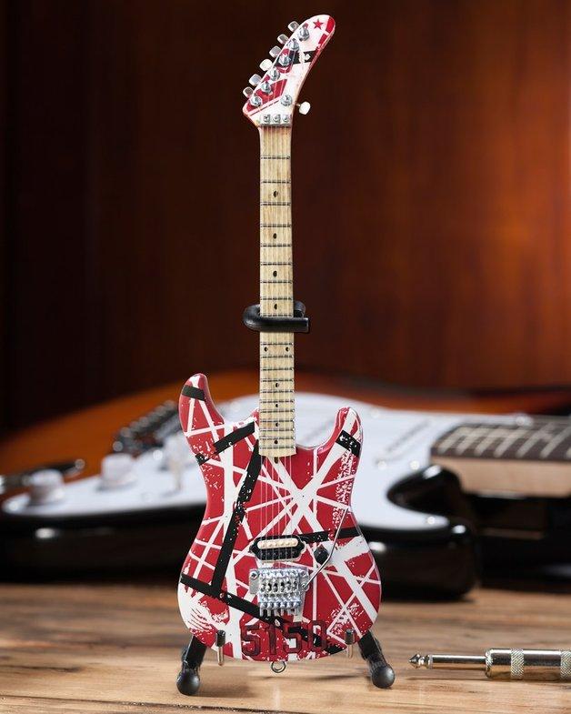 Axe Heaven: Miniature Replica - Eddie Van Halen Guitar (EVH 5150)
