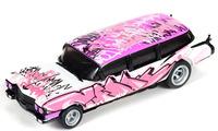Auto World 4Gear 1959 Cadillac Ambulance (Pink) 1/64 Slot Car