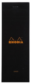 Bloc Rhodia Black Shopping 80 Lined Sheets