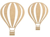 Kaisercraft: Beyond the Page Wooden Wall Art - Hot Air Balloon