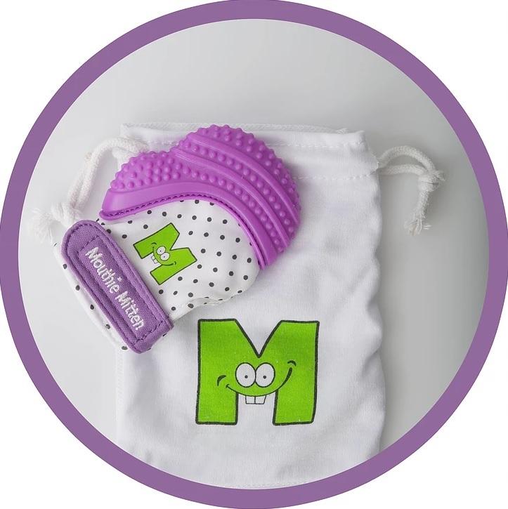 Mouthie Mitten Teething Mitten (Purple Shimmer) image