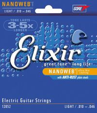 Elixir Light 10-46 NanoWeb Coating - Electric Guitar Strings