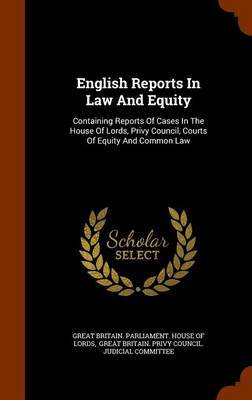 English Reports in Law and Equity image