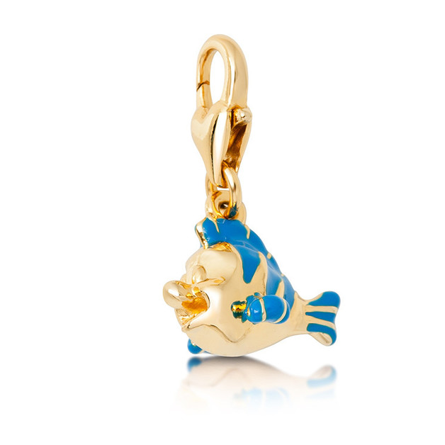 Couture Kingdom: Disney - Little Mermaid Flounder Charm (Yellow Gold)