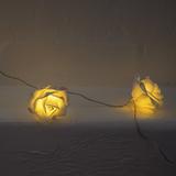 Roses String Lights Garland - White