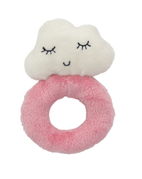 Plush Cloud - Ring Rattle - Pink