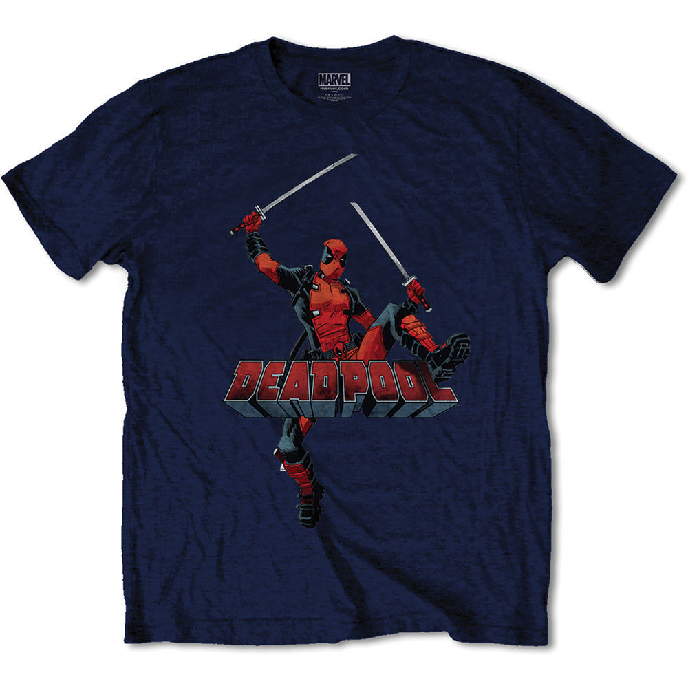 Deadpool Logo Jump - Navy (Medium) image