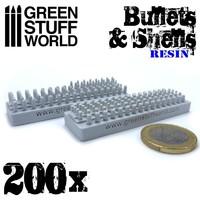 Green Stuff World 200x Resin Bullets and Shells