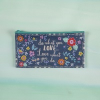 Natural Life: Recycled Zip Pencil Bag - Love What You Do