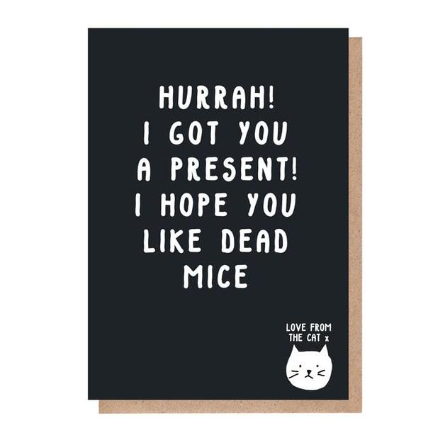 From the Cat: I Hope You Like Dead Mice Birthday Card