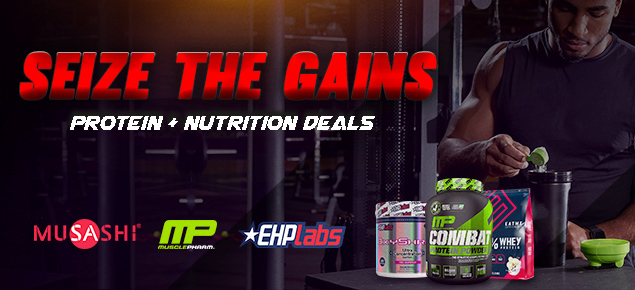 Seize the Gains! Protein + Supplement Deals!