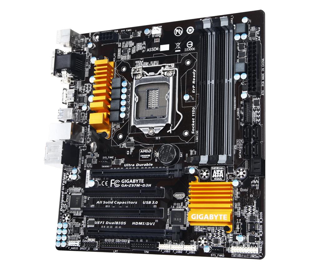 Gigabyte GA-Z97M-D3H Intel Z97 Motherboard