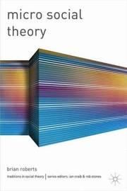 Micro Social Theory by Brian Roberts image