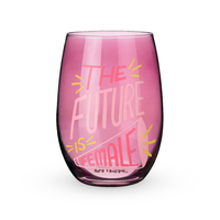 Blush Stemless Wine Glass - The Future is Female