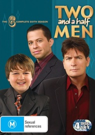 Two and a Half Men - The Complete 6th Season (4 Disc Set) on DVD image