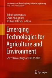 Emerging Technologies for Agriculture and Environment