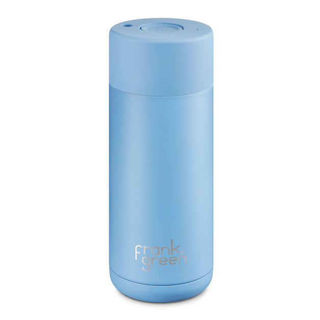 Frank Green: Stainless Steel Reusable Smart Cup - Little Boy Blue (16oz/473ml)