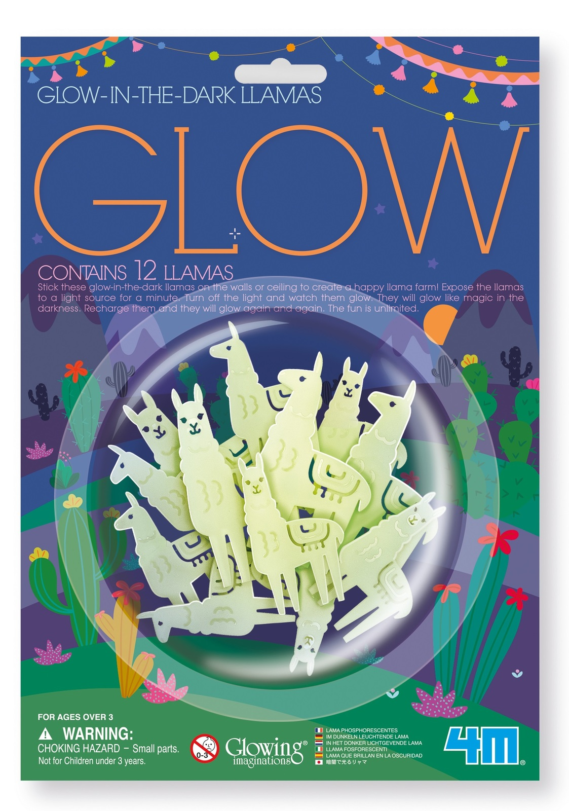4M: Glow-In-The-Dark Llama - Wall Stickers Set image
