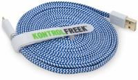 Kontrol Freek Gaming USB Cable (Blue & Silver) for PS4