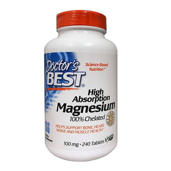 Doctor's Best High Absorption Magnesium 100mg (240 Tablets)