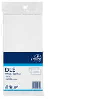 Croxley DLE Non-Window Seal-Easi White Envelope - Pkt 20