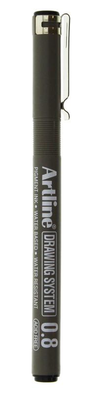 Artline Drawing System 0.8mm Pen Black
