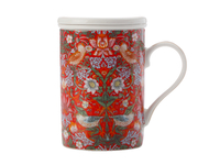 Maxwell & Williams - William Morris Strawberry Red Infuser Mug (350ml)