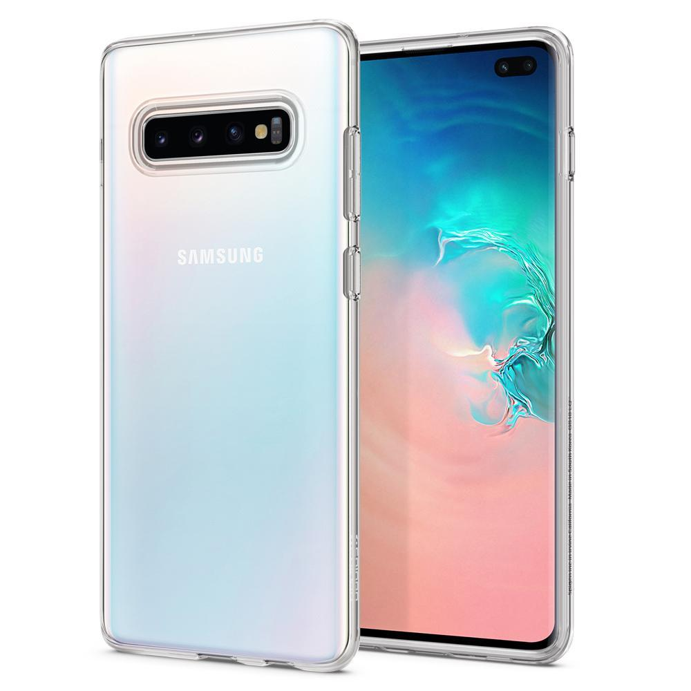 Spigen Galaxy S10+ Liquid Crystal Case - Crystal Clear image