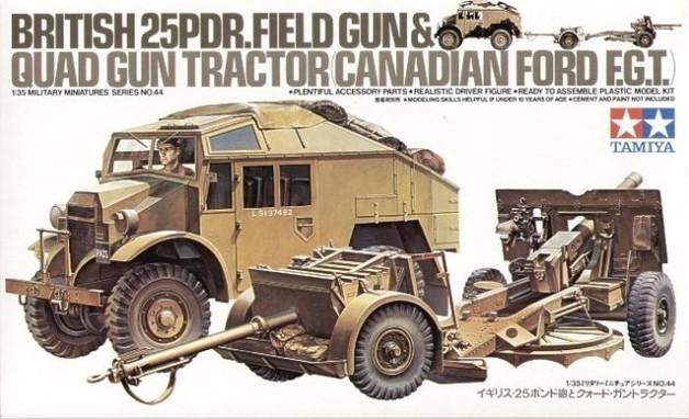 Tamiya British 25 Pdr Field Gun & Quad 1:35 Model Kit