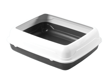 Kitty Litter Tray with Rim (Large)