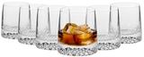 Krosno Tetra Whisky Tumbler 350ml Set 6 Gift Boxed