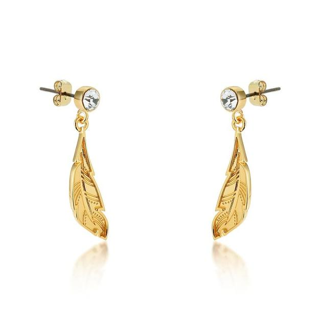 Couture Kingdom: Disney - Princess Pocahontas Feather Earrings (Yellow Gold)