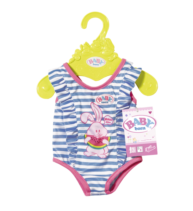 Baby Born Swimsuit Outfit Blue Bunny Toy At Mighty