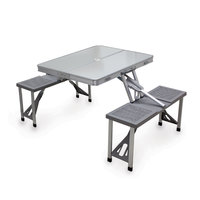 Foldaway Aluminum Picnic Table With 4 Seats
