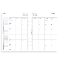 Filofax: A5 2020 Refill - Month on Two Pages (Unlined)